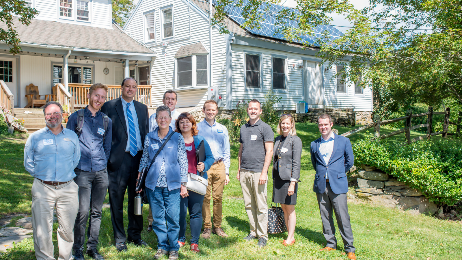 At the Dismas Family Farm in Oakham, we gathered with legislators and activists to support solar and other forms of renewable energy.